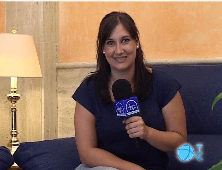 presentadora de televisión